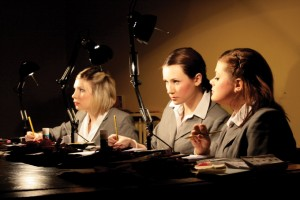 l-r Allie Garside, Steph Durkin, Hannah Cooke.  The Celestial Administrators who meet you, great you, know everything about you.